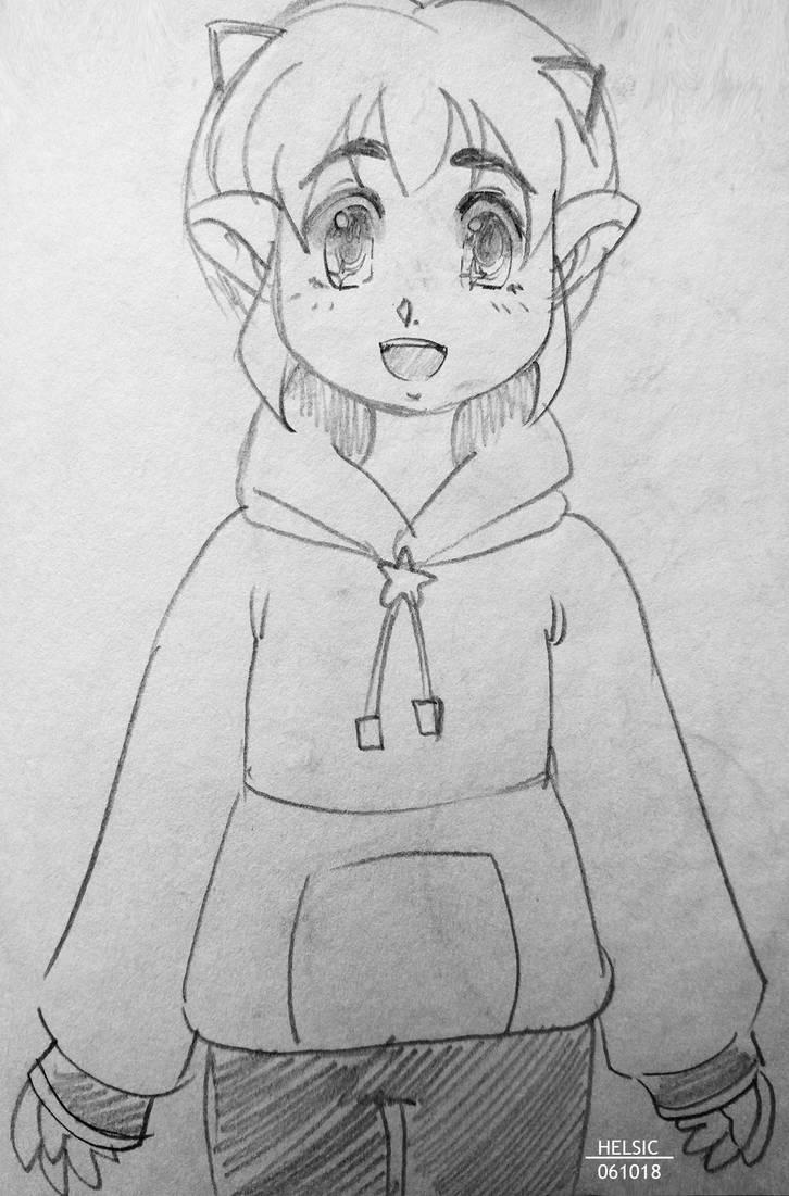 Cute boy sketch inktober 2018 by helsic