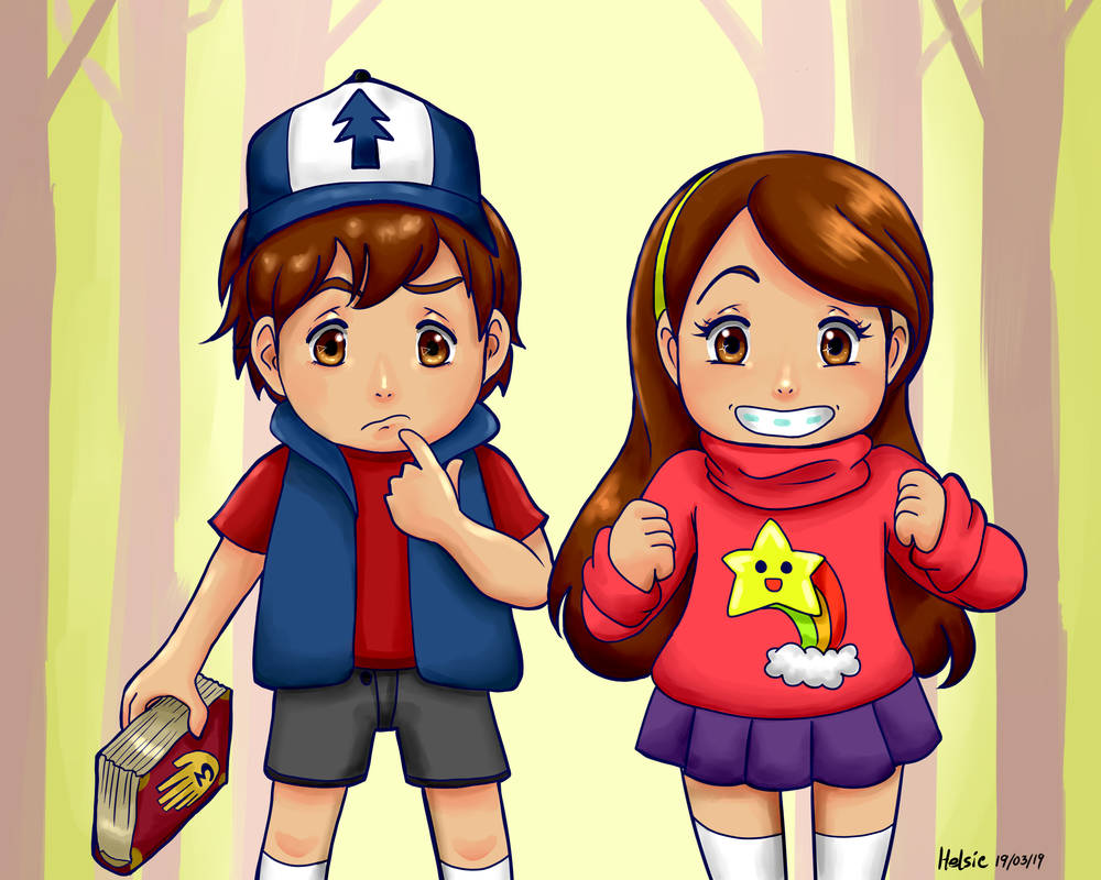 The Pine twins by Helsic