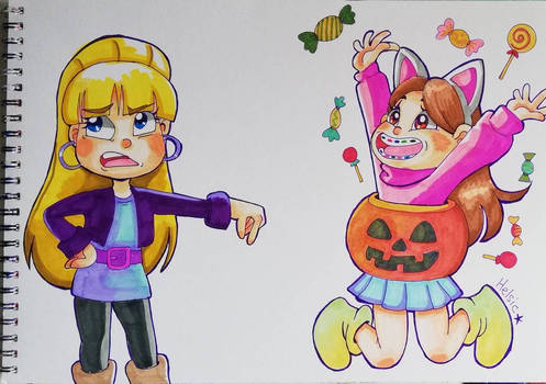 Mabel is too excited for Halloween