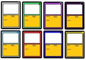 Card Colors (Prototype, MS Paint)
