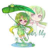 Adoptable (OPEN)   Water lily by MsVorona