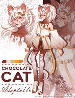 [OPEN] Adopt auction | Chocolate cat by MsVorona
