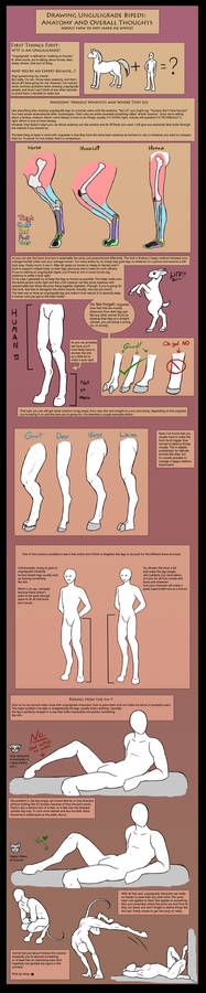 How To Draw Unguligrade Bipeds (IE: Hoofed People)