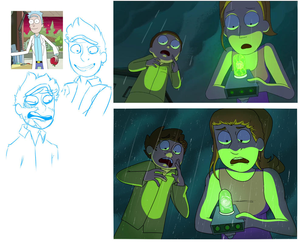 Rick and Morty Screen Cap ReDraw by dragoneye321