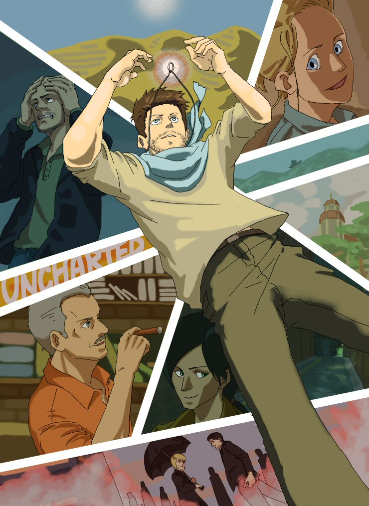 Uncharted 3 by hakusekirei