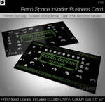 Retro Space Game Business Card