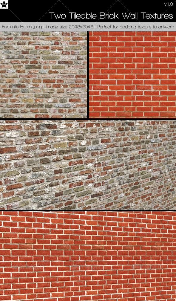 2 Tileable Brick Textures by HollowIchigoBanki