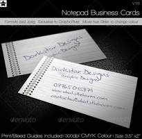 Notepad Business Card by HollowIchigoBanki