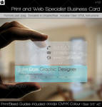Transparent Print and Web Specialist Business Card