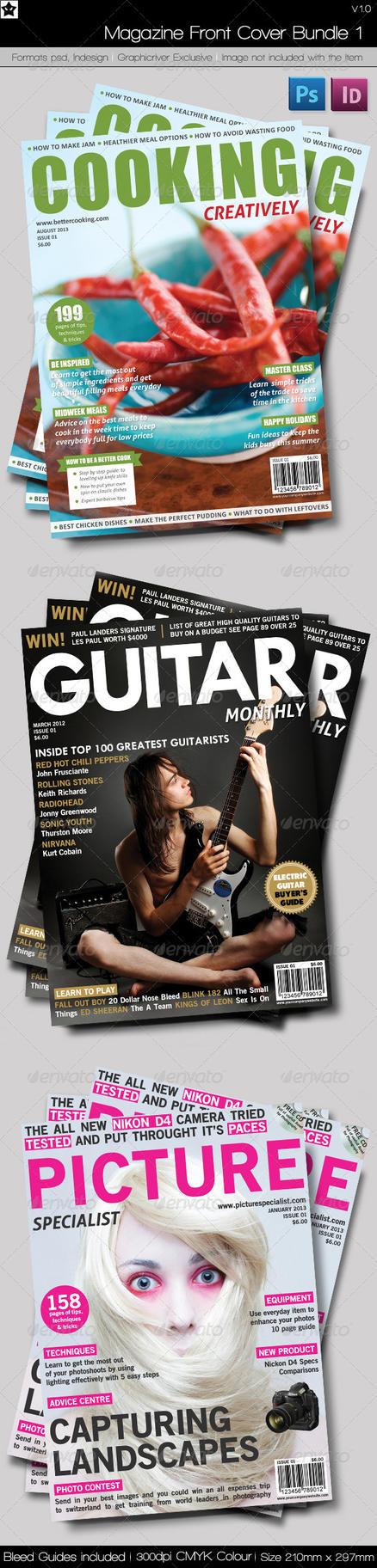 Magazine Front Cover Bundle 1 by HollowIchigoBanki