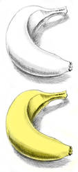 Banana still life sketch by HollowIchigoBanki