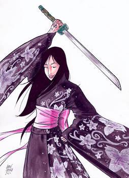 Japanese Samourai girl