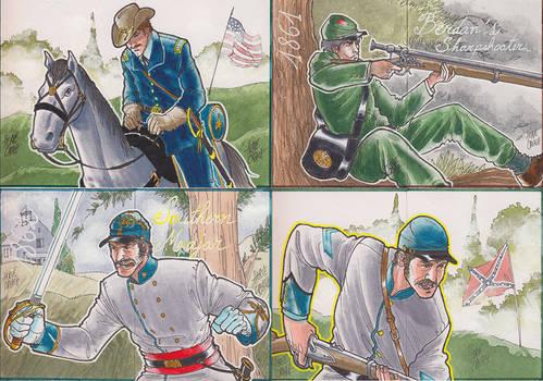 Cartes Guerre de Secession Americaine