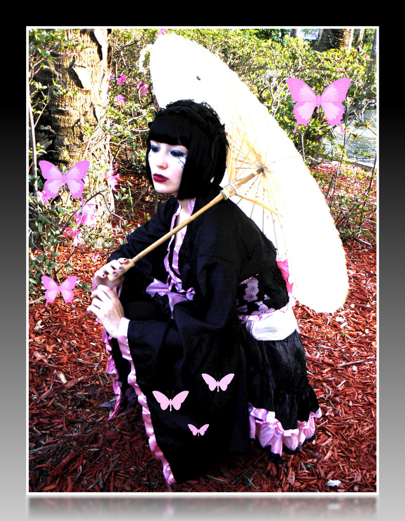 Sakura Lolita Butterfly Edit by Lovelyrosevampress