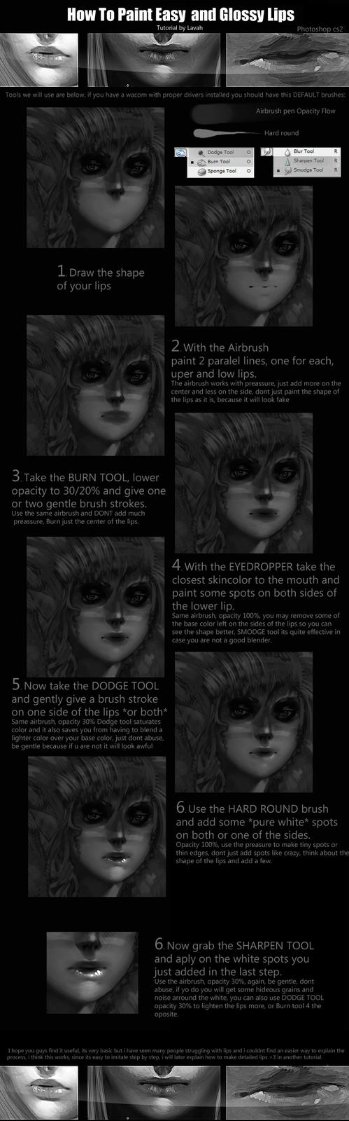 Easy lip painting tutorial 2 by Lavah