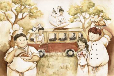 yellow picnic by mongso