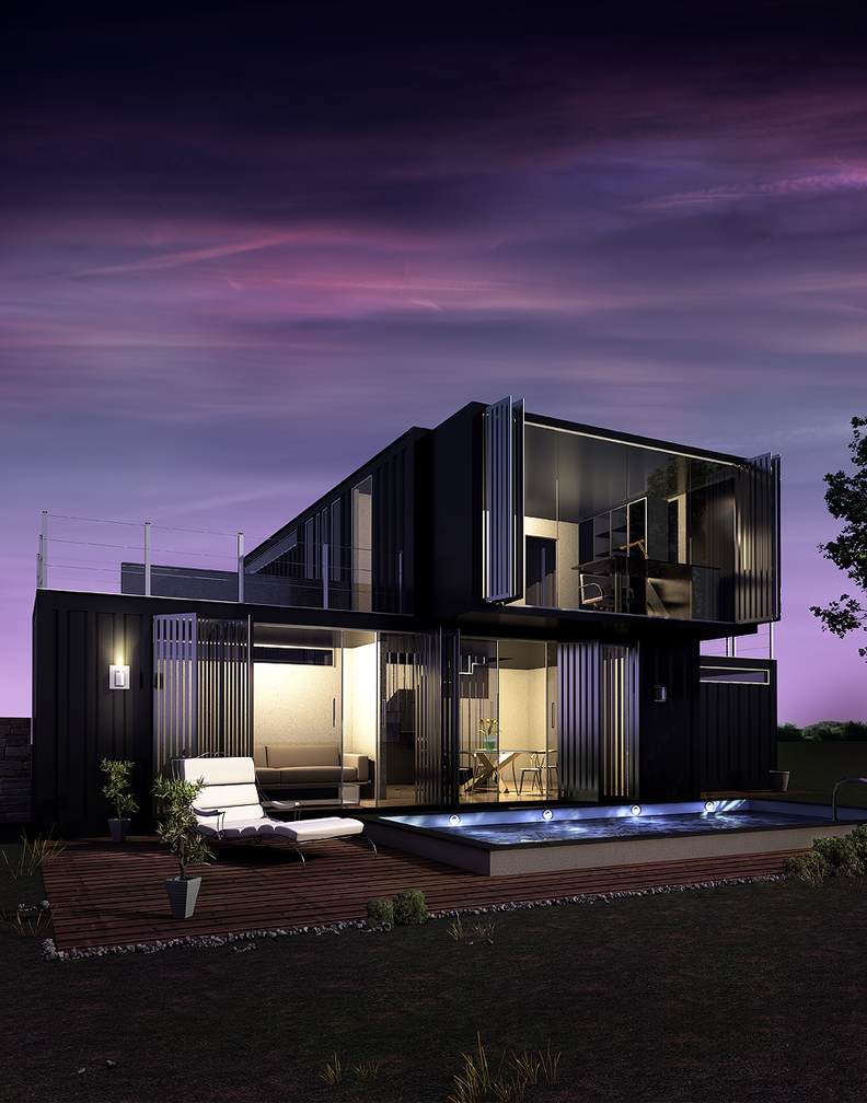 Container becomes a home by umbs on deviantart - Container store home ...