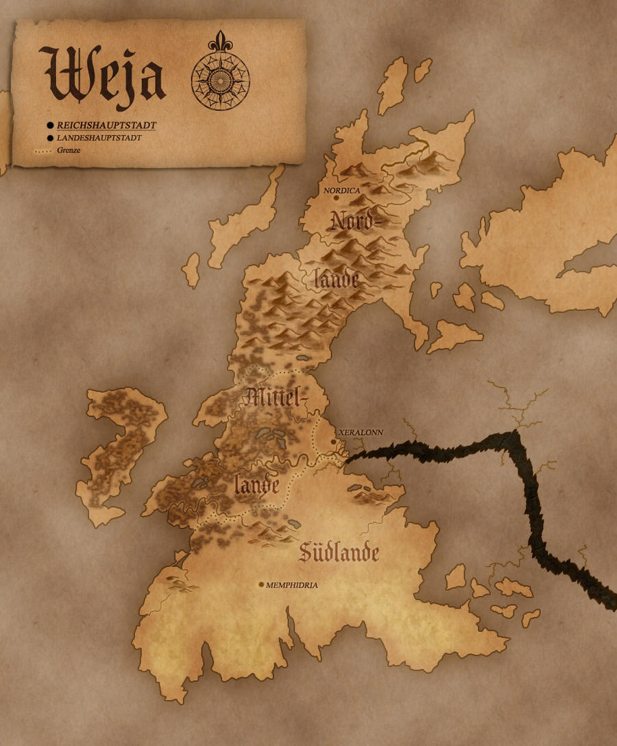 Map of Nolkor: Weja by Luned