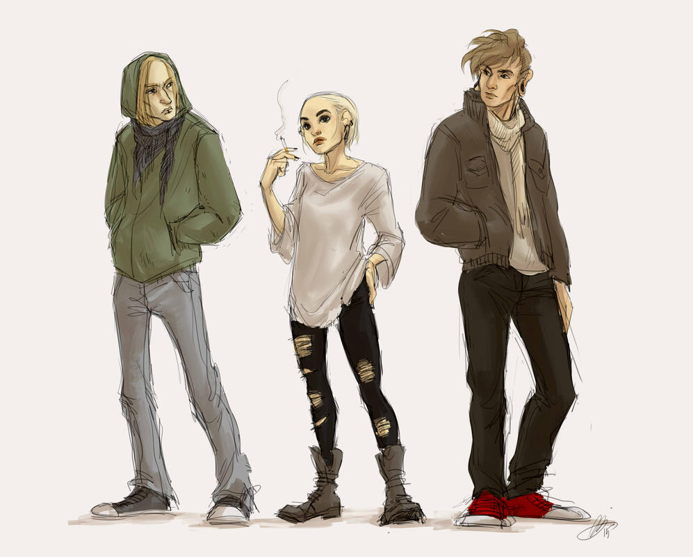 Erkki, Anni and Saku by ribaki