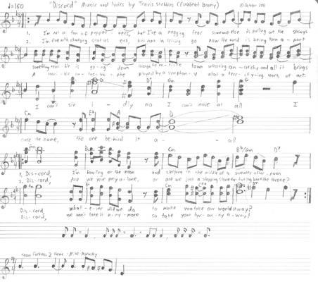 'Discord' (Eurobeat Brony) sheet music