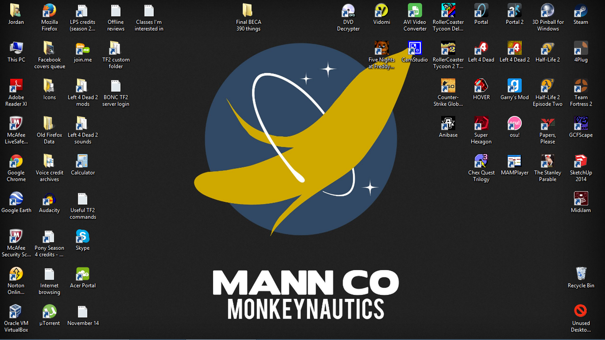 End of 2014 desktop by Dogman15