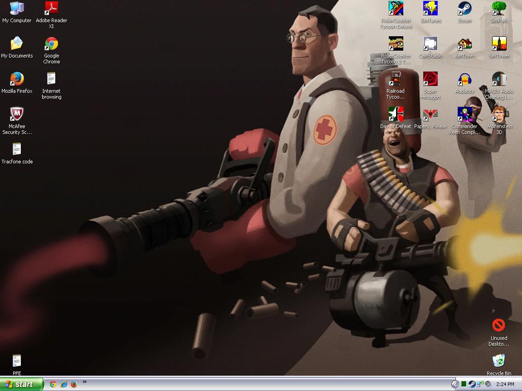 March 2015 desktop on XP by Dogman15