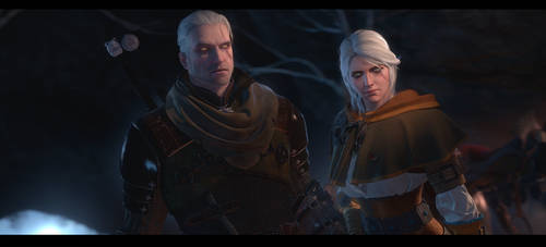 Geralt and Ciri [The Witcher 3]