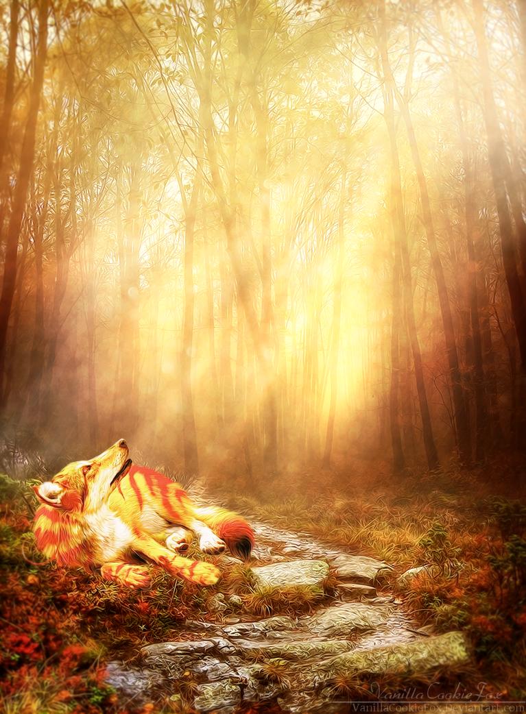 I saw sparks by VanillaCookieFox