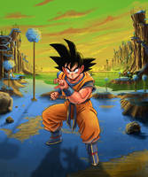 Goku on Namek by Ran-D