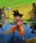 Goku on Namek