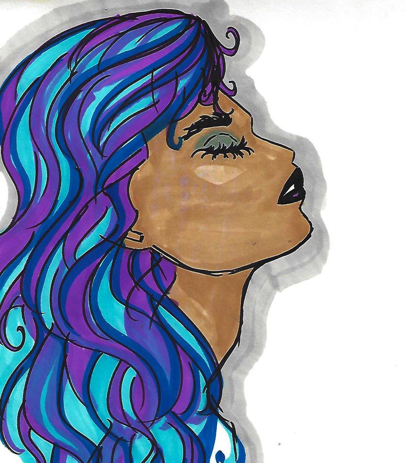 Blue Hair, Copic by spiora