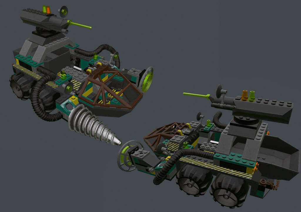 Lego Rock Raiders - Chrome Crusher 3D by PolygoniCal on