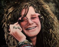 Janis Joplin Painting by annableker