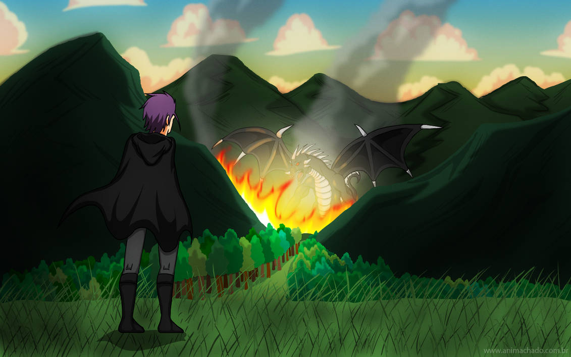 Seth and the Dragon by Animachado