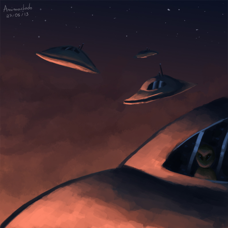 Alien Invasion by Animachado