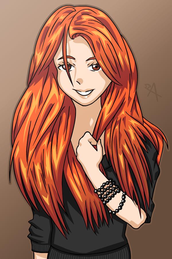 Redhead Girl by Animachado