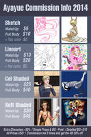 Commission Sheet - *CLOSED* See Journal for detail by Ayayue