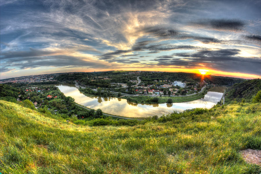 Fisheye sunset by PetrSvoboda91