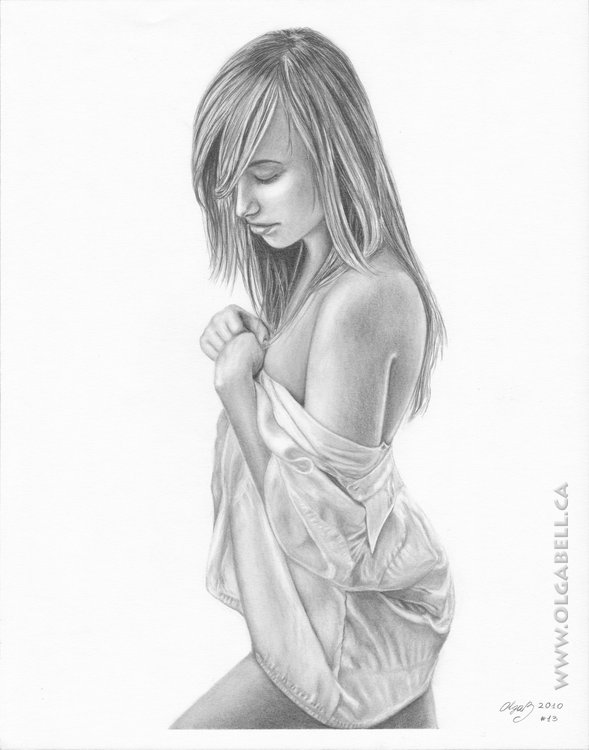 Pencil Drawing Sexy Girl by OlgaBell