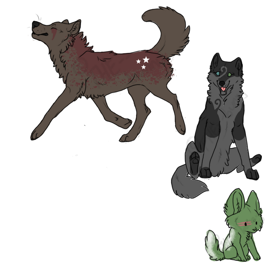Wolf Adoptables 2 Points Each - OPEN by MaddiiMayyhemm