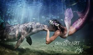 Mermaid Nerida and Dolphin Ceg