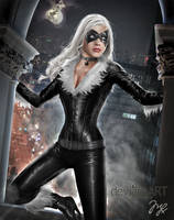 Black Cat from Spiderman by MLauviah