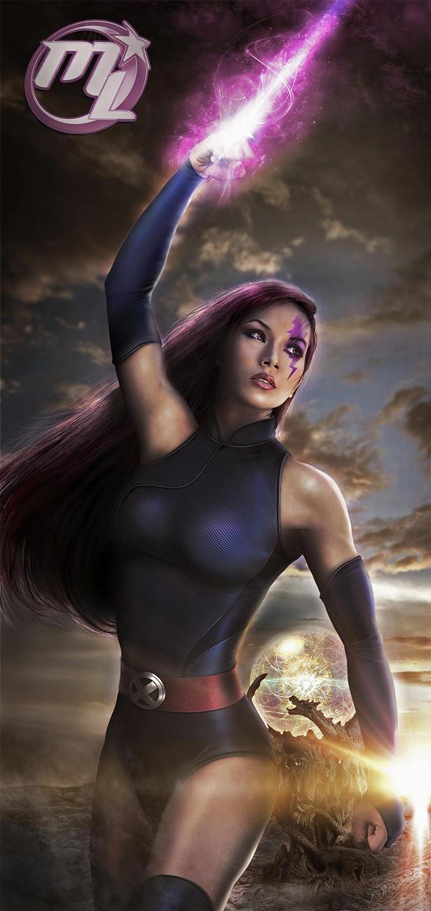 Psylocke from X-Men by Maryneim