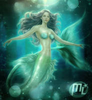 Mermaid PAINTING AND DRAW ANIME by MLauviah