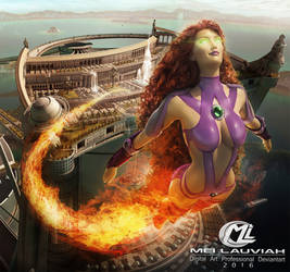 Starfire DC League of Justice