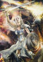 Grelena Warrior of Battle COMMISSION