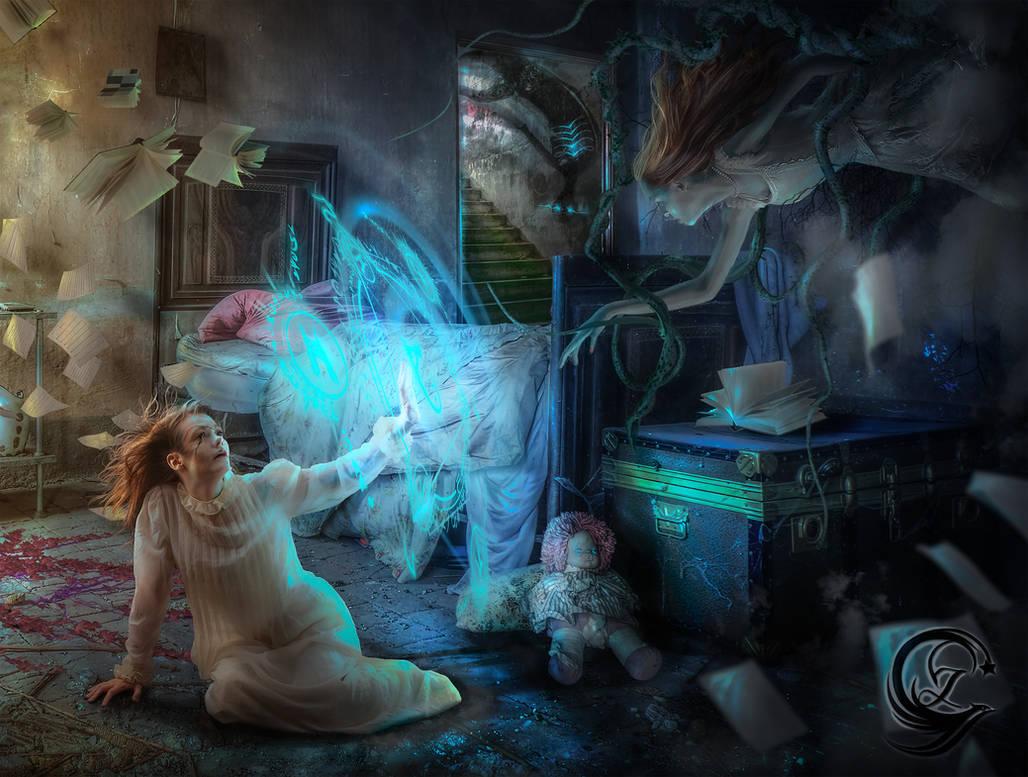 Airiel and Elvira The Sleeping Phantom by Mlauviah