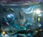 Jennifer Mermaid at home Quarantine with Love