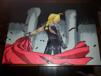 FMA - Edward - mounted on painted canvas by FullMetal6
