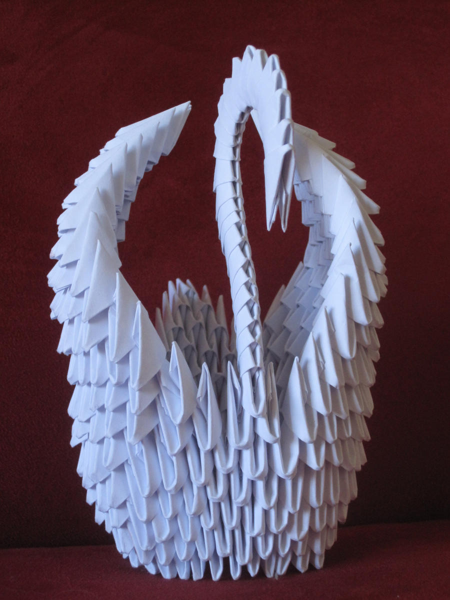 3d Origami Swan Instructions Elegant Psychologyarticles Diagram